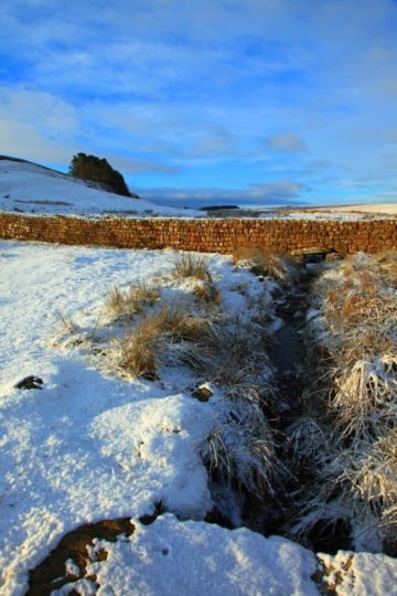 HW196C KNAG BURN GATEWAY HOUSESTEADS CRAGS HADRIAN'S WALL
