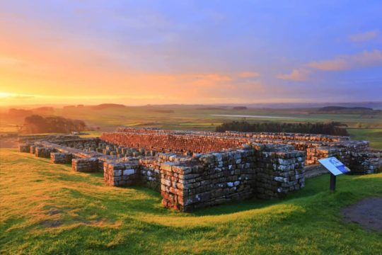 HW222D HOUSESTEADS ROMAN FORT, HADRIAN'S WALL, NORTHUMBERLAND