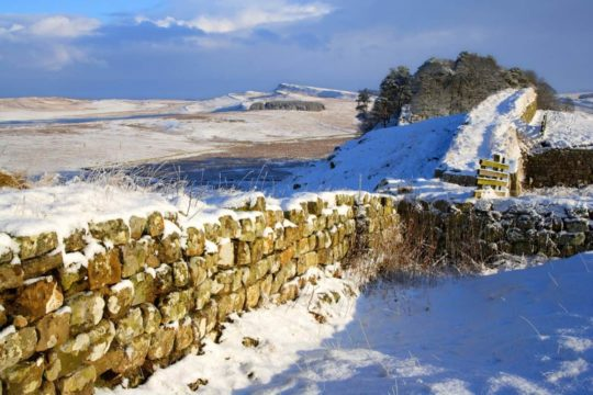 HW283H HOUSESTEADS CRAGS HADRIAN'S WALL